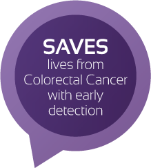 SAVES lives from Colorectal Cancer with early detection